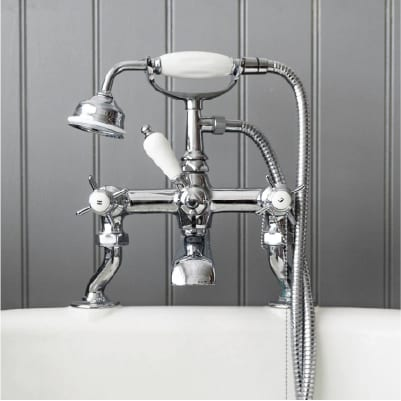 Taps above a bath and installations by plumber hinckley