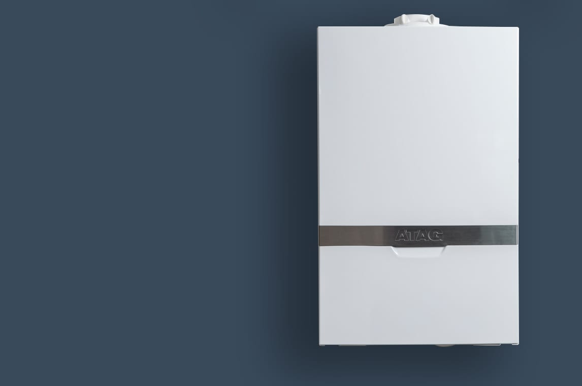 Boiler on dark background - Plumber Leicester